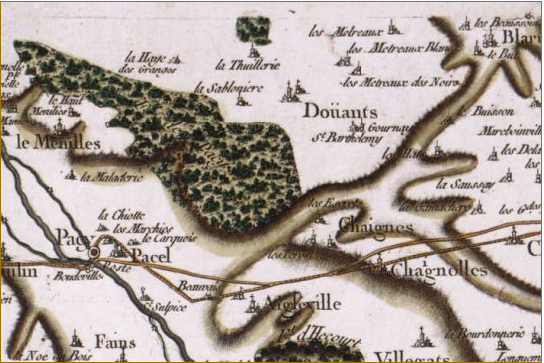 carte de cassini evreux